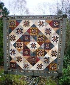 Twilight Stars in At Home with Country Quilts book by Cheryl Wall