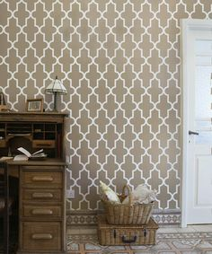 Quatrefoil Wall Stencil for DIY project, Wallpaper Moroccan look and easy Scandinavian Home Decor on Etsy, $33.59