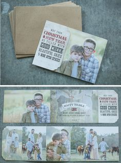 5x7 Tri-Fold Shaped Greeting Card - Photography courtesy Kristy Dickerson