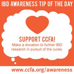 #CCFAwarnessweek continues! You can help put an end to Inflammatory Bowel Disease just by visiting www.ccfa.org/awareness and raising your voice.