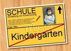 Einladungskarten Einschulung Schulanfang MUSTER 49   Bild Vergrößern