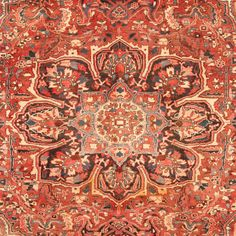Herat Oriental Persian Hand-knotted 1960s Semi-antique Tribal Heriz Wool Rug (8'9 x 11'10) - Free Shipping Today - Overstock.com - 18677298