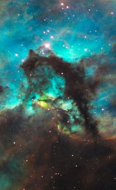 Hubble peered into a small portion of the nebula near the star cluster NGC 2074 (upper, left). The region is a firestorm of raw stellar creation, perhaps triggered by a nearby supernova explosion. It lies about 170,000 light-years away near the Tarantula nebula, one of the most active star-forming regions in our Local Group of galaxies.