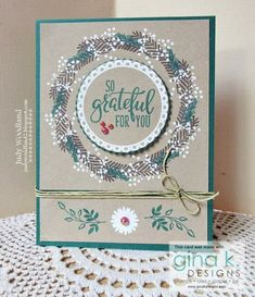 Autumn Wreaths, Holiday Wreaths, Fall Cards, Christmas Cards, Split Coast Stampers, Grateful For You, I Adore You, Host A Party, Gift Certificates