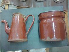 antigua jarra lechera enlozada