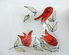 hand painted glass – Etsy
