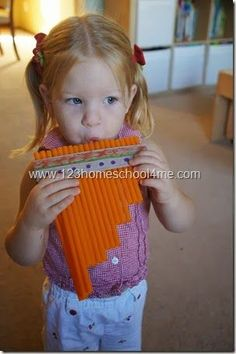 Teaching Children about South America DIY Zamponas - a South American Instrument made by Toddler, Preschool, and Homeschooler Toddler Learning, Teaching Kids, Toddler Preschool, Teaching Music, Preschool Music, Preschool Activities, Multicultural Activities, Spanish Lessons For Kids, South American Art