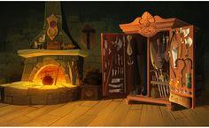 Cenários de Tangled the Series, da Disney, por Fiona Hsieh | THECAB - The Concept Art Blog