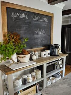 Start your morning off right with an amazing coffee bar command center!