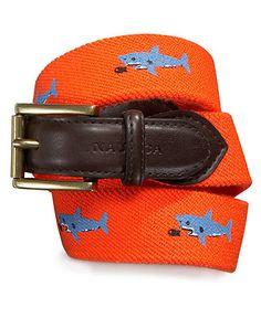 Nautica Kids Belt, Boys Shark-Pattern Belt - Kids Accessories - Macy's