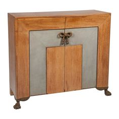 Leather, Oak and Bronze  Sideboard after Andre Arbus | From a unique collection of antique and modern buffets at https://www.1stdibs.com/furniture/storage-case-pieces/buffets/