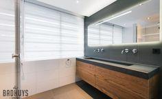 Badkamermeubel hout en beton b restroom ideas