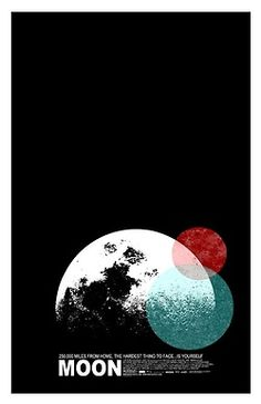 poster, moon.
