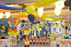 minion centerpieces ideas   Huge Minion Despicable Me 5th Birthday Celebration ~ Featured Party