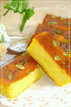 Fluffy and Moist Sweet Potato Cake Recipe by cookpad. Sweets Recipes, Muffin Recipes, Brownie Muffin Recipe, Cake Pans, Cornbread, Sweet Potato, Great Recipes, Baking, Ethnic Recipes