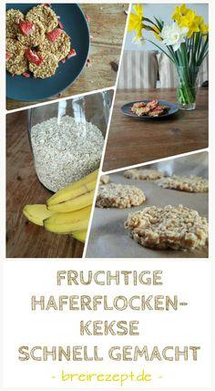 Haferflocken-Kekse mit Obst ohne Zucker selber machen