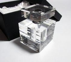 Orrefors Crystal Small ICE Perfume Bottle NIB