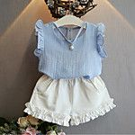 Cheap clothing sets, Buy Quality fashion kids clothes directly from China kids clothes Suppliers: Summer Girls Children Casual Fashion Pearl Sleeveless Chiffon Blouse + Shorts Suits Kids Clothes Clothing Sets Girls Summer Outfits, Girl Outfits, Cute Outfits, Summer Girls, Summer Baby, Spring Summer, Kids Fashion Show, Toddler Fashion, Boy Fashion