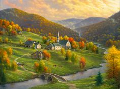 12 beaux tableaux abraham hunter - Page 10 Hunter Page, Immaculée Conception, Peace In The Valley, Foto Gif, Creation Photo, Country Art, Kirchen, Beautiful Paintings, Belle Photo