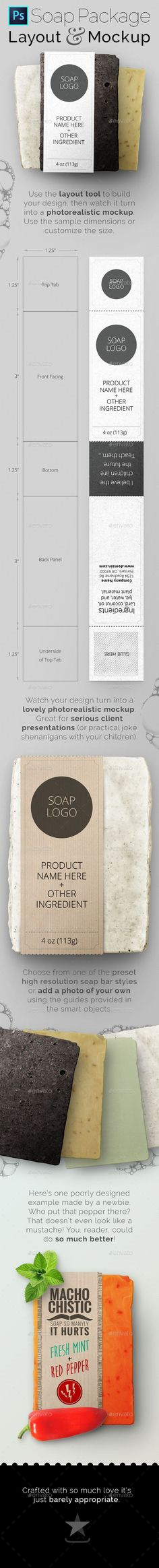 Soap Bar Package Tool and Mockup. Download here: graphicriver.net/...