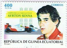 Briefmarke: Ayrton Senna (Äquatorialguinea) (Motor vehicle champions) Mi:GQ 1807,Yt:GQ 329,Edi:GQ 211