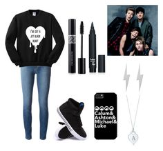 """""""5 seconds of summer"""" by tva-lpz ❤ liked on Polyvore featuring J Brand, Supra, Tiffany & Co., Christian Dior and Edge Only"""