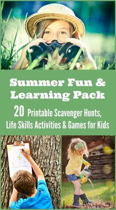 20 Summer scavenger hunts, travel games and learning activities that are perfect for summer!