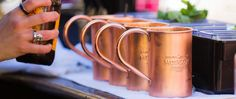 Moscow Mule Recipe, Copper Cups, Copper Moscow Mule Mugs, Glass Of Champagne, Day Drinking, Fun Drinks, Beverages, Mug Cup, Pure Products