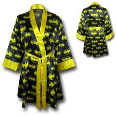 Women's Batman Silk Printed Robe