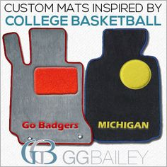 Custom car floor mats designed for March Madness and the Sweet 16? Yes we did! Click the pin to see how to design your own.