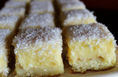 Easy Cake : Luxury cube with egg yolk cream and coconut , Easy Cake Recipes, Sweet Recipes, Dessert Recipes, Desserts, Czech Recipes, Sweet Cakes, Sweet And Salty, Something Sweet, Boleros