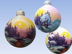CUSTOM Hand Painted Christmas Ornaments by SweetenYourHome on Etsy
