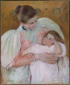 Nurse and Child Mary Cassatt (American, Pittsburgh, Pennsylvania Le Mesnil-Théribus, Oise) Mary Cassatt, Mother And Child Painting, Edgar Degas, Z Arts, Post Impressionism, Silhouette, Edouard Manet, Camille Pissarro, Portrait Art
