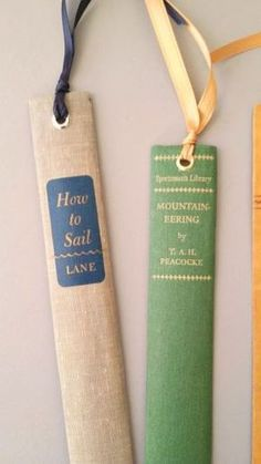 Bookmarks from old book bindings