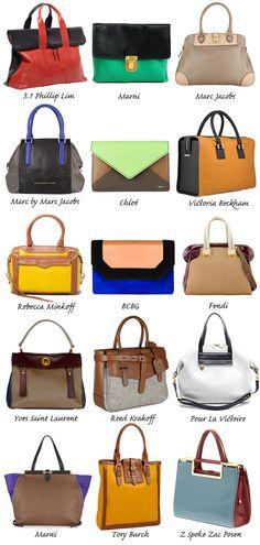Colorblock Bags