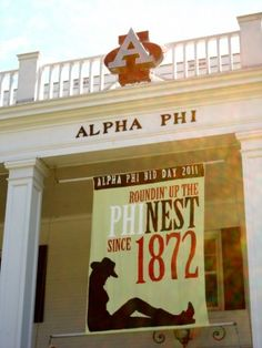 Roundin' up the PHInest since 1872 - So proud to be a mizzou aphi with all of our amazing banners