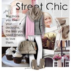 Street Chic by cynthia335 on Polyvore featuring polyvore fashion style Uniqlo Proenza Schouler 7 For All Mankind River Island Dooney & Bourke Chicnova Fashion Polaroid