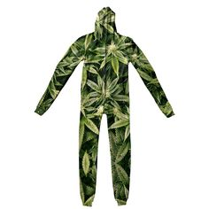 Adult Jumpsuits - Kush Leaves Adult Jumpsuit Pajama Pants, Sweaters, Leaves, How To Wear, Jumpsuits, Clothes, Collection, Fashion, Overalls
