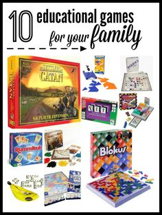 This post has some fabulous ideas for family game night - fun & educational! board games for kids | fun family board games