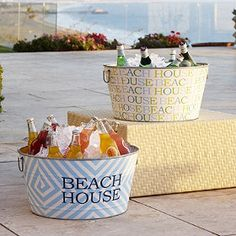 Cute buckets for a summer party