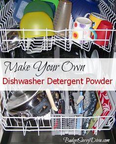 How to Make Your Own Dishwasher Detergent Powder