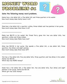 9 best money word problems images on pinterest 1st grade homework counting coins word problems and coin matching will help familiarize kids with the basics of money ibookread Read Online