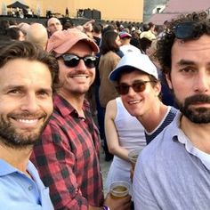 There are friendships that don't have time nor space... #MattBomer ❤ #VictorQuinaz #TomParker #NealDodson #U2Concert Class of 2000 CMU