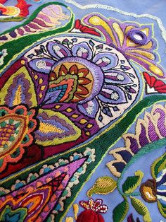 Mandorla. Hand embroidered