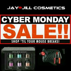 Jay-Jill Cyber Monday Sale Holiday Gift Set's & Deal of The Day up to 40% Off & Free Shipping with $25 Purchase. Use Promo Code: JayJillHolidays2014  #CyberMonday #Sales #Makeup #instamakeup #cosmetic #BoldLips #DealsOfTheDay  www.jay-jillcosmetics.com