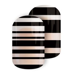 Give your mani that modern edge with this black-on-clear negative space Sisters' Style design. Mix-and-match, pair, or layer, however you wear it, 'Next In Line' is sure to have maximum impact.