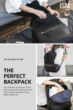 f855018ade21 The perfect backpack that balances a casual and professional look. Made  from the highest grade