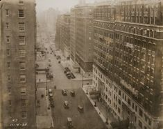 Looking down West End Avenue from 100th Street in November 1930.