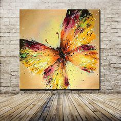 Butterfly Canvas, Butterfly Painting, Texture Painting, Painting Art, Acrylic Art Paintings, Oil Painting Abstract, Painting Inspiration, Canvas Wall Art, Painted Wall Art