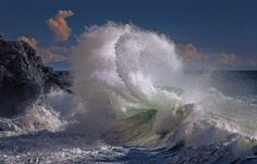 The images were taken by Italian photographer Giovanni Allievi, were taken in Savona, Italy. He sets off early in the morning to capture the waves in all their glory. Sea Storm, Rough Seas, Frozen In Time, Sea Photo, Ocean Waves, Print Poster, Mother Nature, Indoor Outdoor, Prints